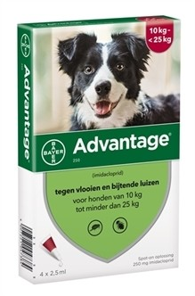 Bayer Advantage voor de hond (vanaf 10kg tot minder dan 25kg)-0