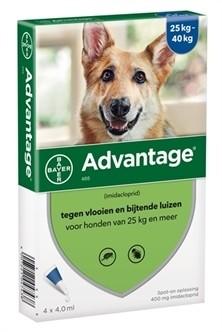 Bayer Advantage voor de hond (voor honden van 25kg en meer - verpakt per 4 pipetten)-0