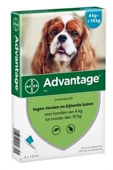 Bayer Advantage voor de hond (voor honden vanaf 4kg tot minder dan 10kg - verpakt per 4 pipetten)-0