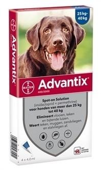Bayer Advantix Spot On 400/2000 vanaf 25kg 4 pipetten-0