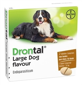 Bayer Drontal Ontworming Hond Large 2 Tabletten-0