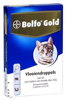 Bolfo Gold Kat 40 vlooiendruppels 2 pipetten-0