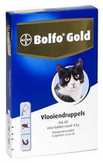 Bolfo Gold Kat 80 vlooiendruppels 4 pipetten-0