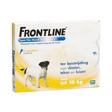FRONTLINE SPOT ON voor de HOND ( S - tot 10kg bevat 6 pipetten)-19