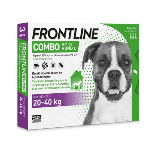 FRONTLINE COMBO voor de HOND (L - 20 tot 40kg - 3 pipetten)-0