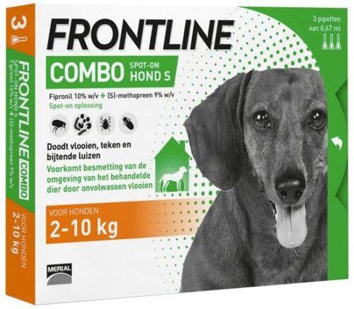 FRONTLINE COMBO voor de HOND (S - 2 tot 10kg - bevat 3 pipetten)-0