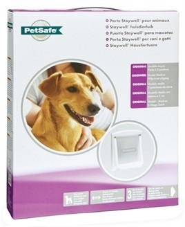 Hondenluik 740 wit transparant-0
