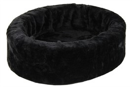 Hondenmand - kattenmand bontmand zwart 40cm -0