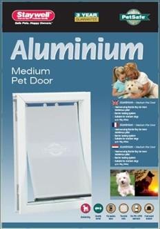 Hondenluik 620 aluminium wit-0