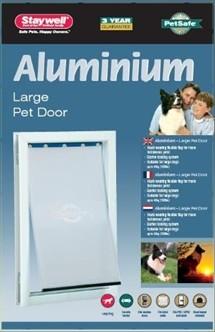 Hondenluik 640 aluminium wit-0