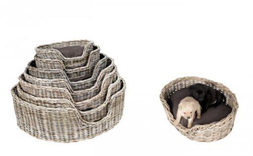 Rieten Hondenmand Basket 90CM-0
