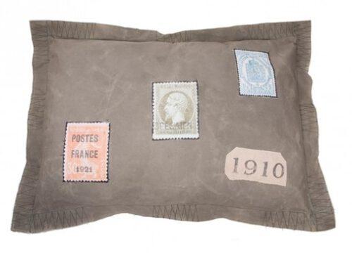 Hondenkussen Vintage Lex en Max Postzegel-0