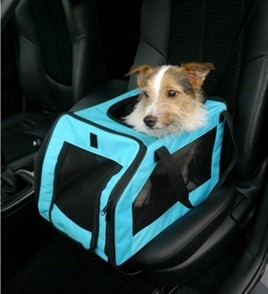 Pet auto stoel aqua medium-0