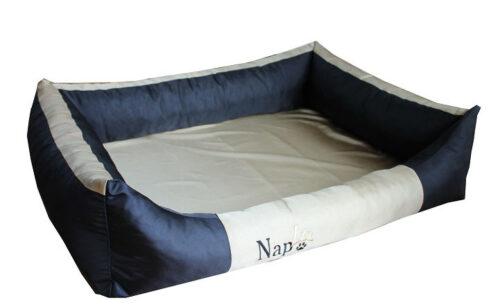 Hondenmand Napzzz Oxford Duo Zwart Beige 80 cm-0