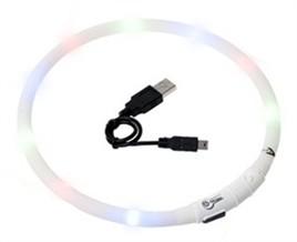 Halsband met LED verlichting Wit-0