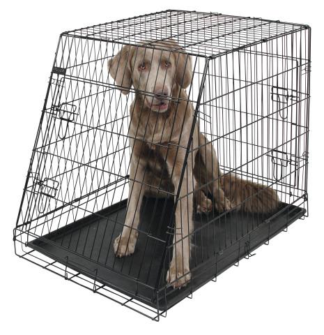 Hondenbench Schuin Zwart 92cm-0