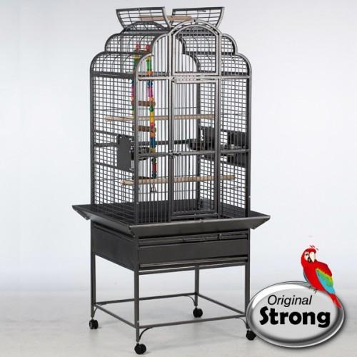 Papegaaienkooi Rhea Grijs-0