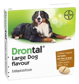 Bayer Drontal Dog Ontworming Hond Large 2 Tabletten-0