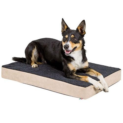 Orthopedisch Hondenkussen Beige Antraciet 80cm-0