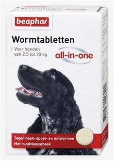 Beaphar Worm tabletten All in One 2,5 tot 20kg -0