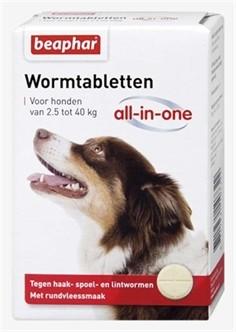 Beaphar Worm tabletten All in One 7,5 tot 40kg-0