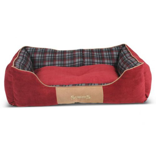 Hondenmand Scruffs Highland Box Bed Rood M-0