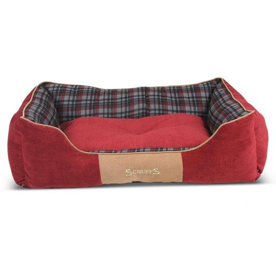 Hondenmand Scruffs Highland Box Bed Rood M-0