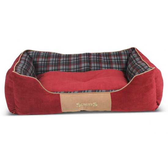 Hondenmand Scruffs Highland Box Bed Rood S-0