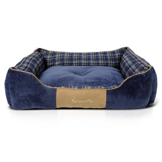 Hondenmand Scruffs Highland Box Bed Blauw L-0