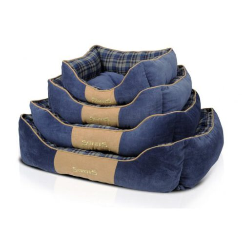 Hondenmand Scruffs Highland Box Bed Blauw-0