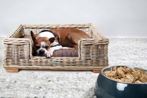 Rotan hondenmand 70 cm inclusief kussen-0