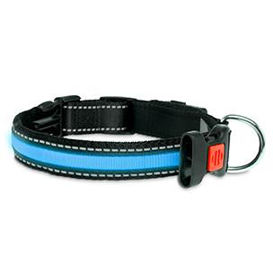 Halsband met LED verlichting Blauw 48 cm-0