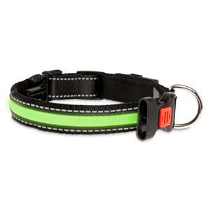 Halsband met LED verlichting Groen-0