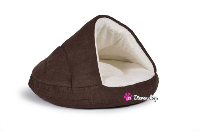 Hondenmand Snuggle Cave Bruin Deluxe 65 cm-0