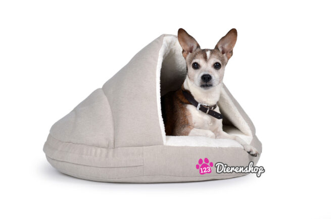 Hondenmand Snuggle Cave Crème Deluxe 65 cm-0