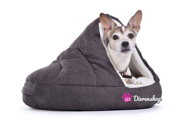 Hondenmand Snuggle Cave Grijs Deluxe 95 cm-0