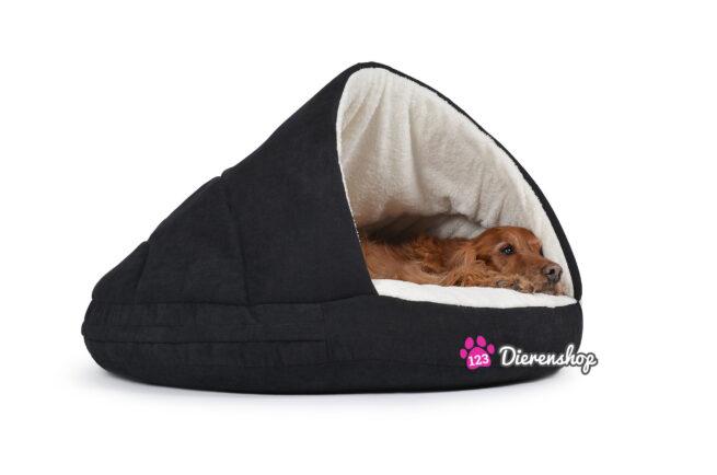 Hondenmand Snuggle Cave Zwart Deluxe 95 cm-0