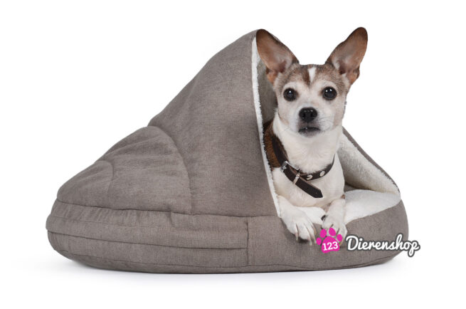 Hondenmand Snuggle Cave Taupe Deluxe 65 cm-0
