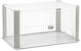 Puppyren Grijs met dak 113 cm-0