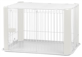 Puppyren Wit met dak 113 cm -0