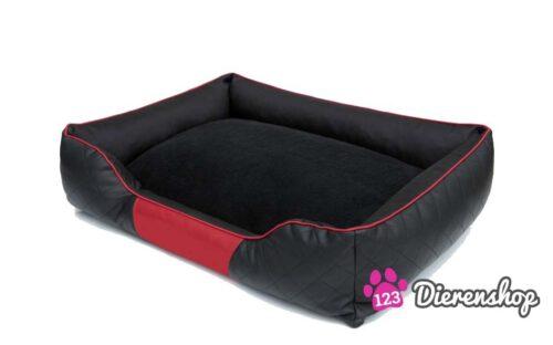 Hondenmand Indira Prestige Zwart Rood-0