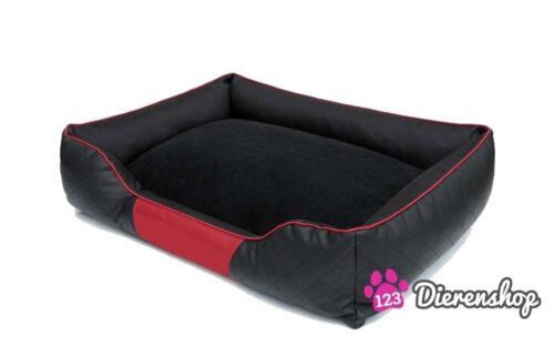 Hondenmand Indira Prestige Zwart rood 85 cm-0