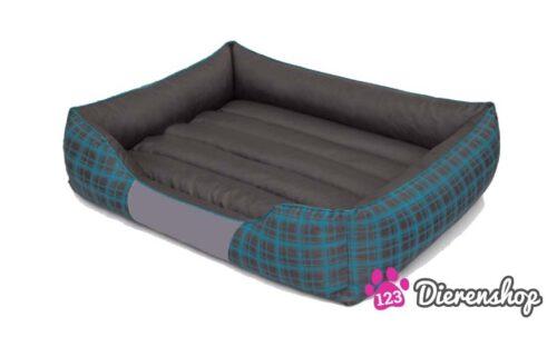 Hondenmand Blauwe Ruit-0
