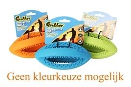 Hondenspeelgoed Grubber Rugbybal 19 cm-0