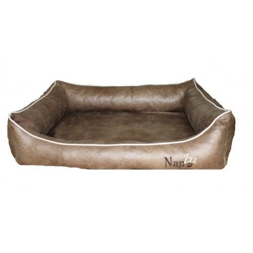 Hondenmand Napzzz Leatherlook Divan Bruin-0