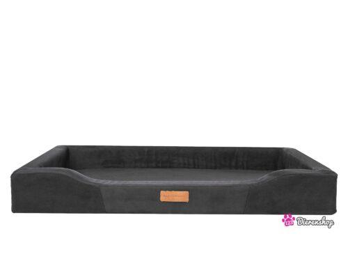 Hondenmand Indira Suedine Rechthoek Zwart 120 cm-0