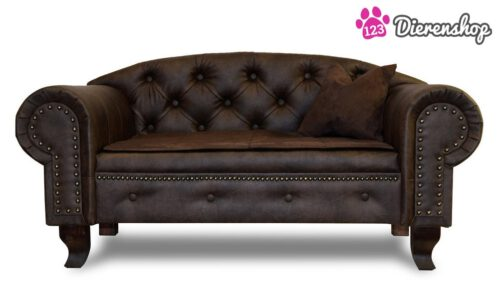 Hondenbank Chesterfield Bruin Premium-0