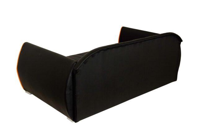 Hondenbank Design Zwart Rood-17109