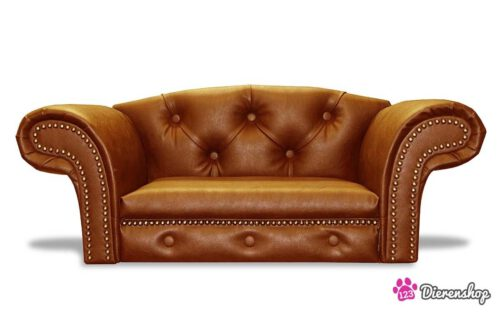 Hondenbank Kensington Chesterfield Cognac Large-0