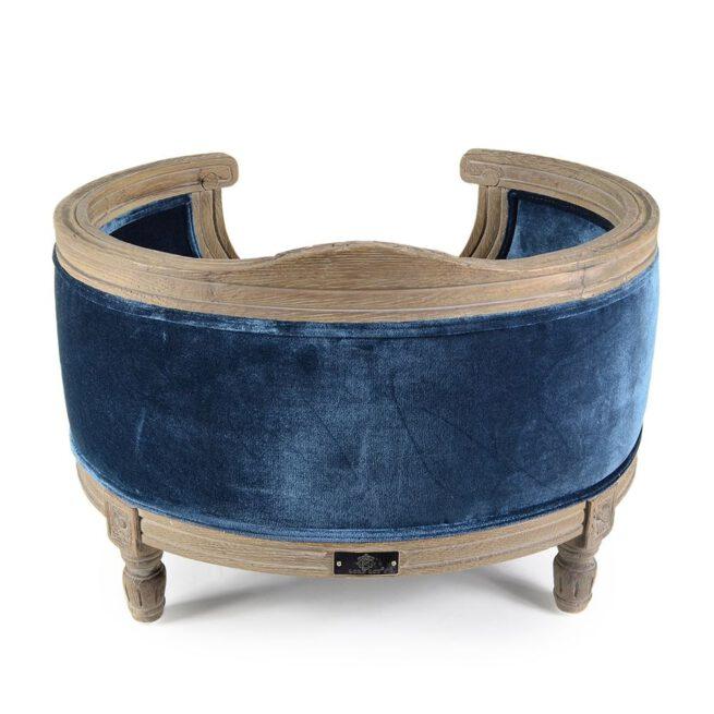 Hondenmand Lord Lou Royal Blue Velvet Medium-17159